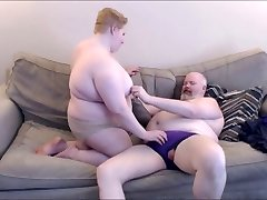 Large duo making out, BBW, BHM, Bear Chub