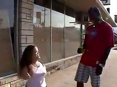 Midget Mya Loves to be Ravaged By Big Black Cock and Taste Cum