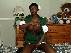 Hottest amateur Dark-hued and Ebony, Big Tits sex video