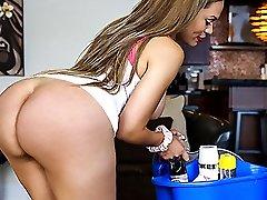Samantha Bell in Good-sized Donk Latina Maid Gets PIPED  - BangBros