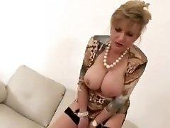 Masturbating construction with hot mature Lady