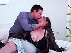 Big mature mommy eats son s sperm after sex