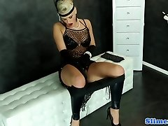 Femdom gloryhole fun with blondes and strap on dildo