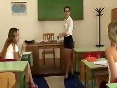 Lesbian teacher punishes schoolgirls