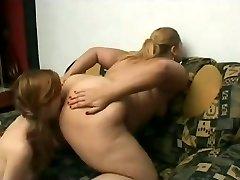 Slut Fat Plumper Lesbians love licking wet shaven cooch juice-4