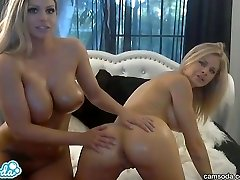best blonde lesbians with big globes n oil
