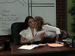 Schoolteacher and her student after lesson