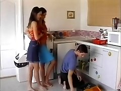 lesbos plumber and nail him on the kitchen