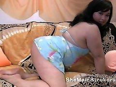 Chubby Asian Transgirl Tia Ladyboy Spanking