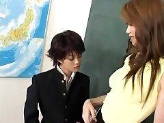 Horny Japanese chick Mami Shindo, Sayaka Kusunoki in Best Blow-job JAV clip