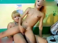 Ladyboys cam showcase accidental premature creampie
