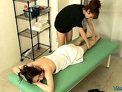 Asian ladyboy hardcore anal invasion with cumshot