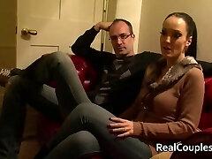 Kinky wife in Vinyl with crossdressing husband