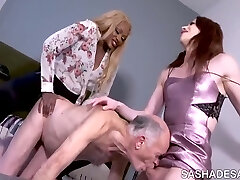 Guy Predominated By Wife And Shemale