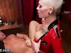 Danni Daniels in Red Latex Plowing Studs ass