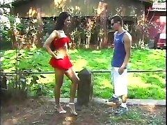 Blowing Her Brazilian Cock