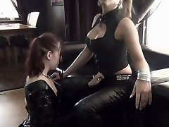 TS domina plays with her sub dame p1