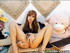 Fucky-fucky Angel Shemale on Torrid Webcam Show