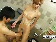 Chinese newhalf shemale soapland with insane sixtynine