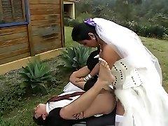Hot t-model bride fucks new hubby