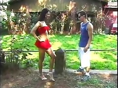 Sucking Her Brazilian Cock