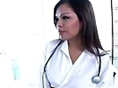 Flirty t-model nurse Carmen Moore ends up anal humped by her patient boy