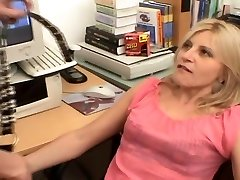 Tranny and girl have office romp