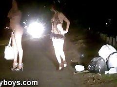 Nikki T-girls Working Bare on the Street