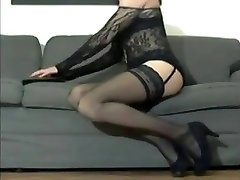 Cd - strip sexy legs high high-heeled slippers stockings ass and manhood