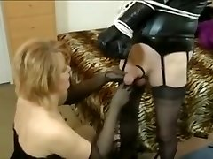 Mistress plays with her sissy