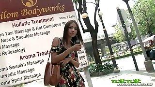 Tuk Tuk Patrol - Sexy Thai girl takes on xxl white man sausage