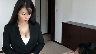 Marvelous Japanese slut Miki Sato in Hottest Secretary, Big Orbs JAV clamp