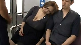 Big tits asian ravaged on teach by two guys