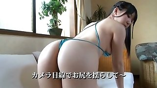 Asian hottie in thongs Runa Amemiya  exposes her almost naked figure