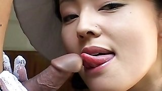 Asian garden blowjob