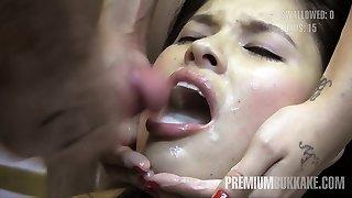 Miyuki Stepson swallows 41 huge mouthful cumshots
