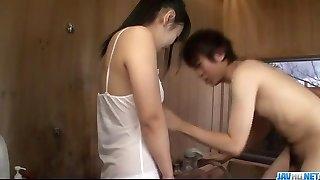 Koyuki Ono brunette silly blows schlong like an angel