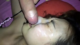 Unexpected and unwanted facial cumshot!