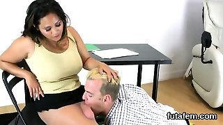 Teens plow folks buttfuck with massive strap-on dildos and squir
