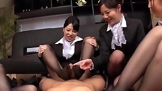 Asian footjobs