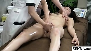 JAV CFNF lesbian massage clinic finger-tickling course Subtitled