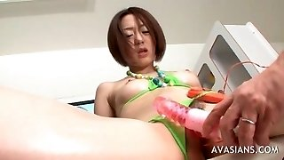 Fur Covered Asian Babe Extreme Insertion Fisting