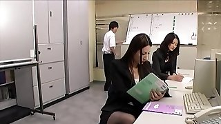 College teachers in pantyhose footjobs threesome