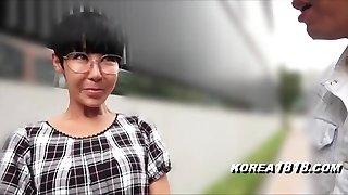 Gross Korean Milf with Glasses in Japan
