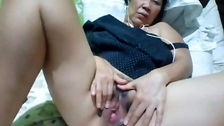 Filipino granny 58 fucking me stupid on webcam. (Manila)1