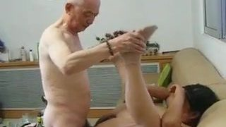 Chinese Granny Neighbour Gets Poked by Asian Grandpa