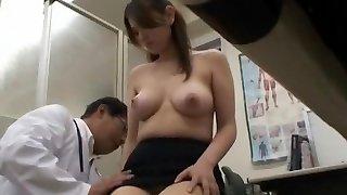 الغريبة النموذج الياباني عامي موريكاوا في مذهلة الطبية خفية كاميرات الفيديو JAV