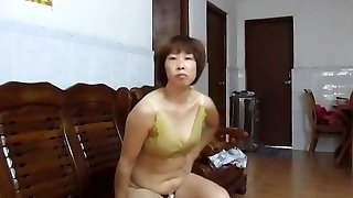 Chinese Amateur Cougar Showing Off
