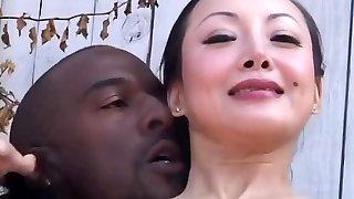 Astounding pornstar Ange Venus in horny interracial, black-haired porn scene