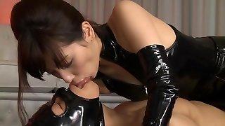 Horny Japanese slut Miyuki Yokoyama in Finest fetish, latex JAV sequence
